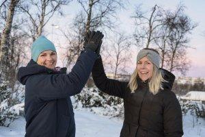 Tekniska Verkens personalchef Ann-Helen Westerberg och Kirunahälsans hälsoutvecklare Cecilia Strandenhed var båda mycket nöjda över resultatet från den riktade satsningen på chaufförer inom organisationen.